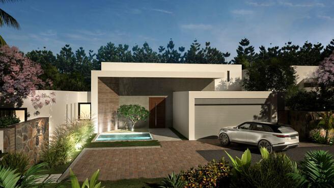 Arokaria Luxury Villa Mauritius entrance