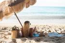 Woman relaxing on the beach - Arokaria Luxury Villas Mauritius