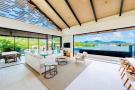 Panigia Beach Penthouse B living area with pool and sea views