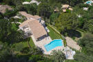 Aerial view of 5-bed villa with landscaped garden, pool and terrace in Mougins