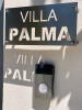Villa sign and entry pad to 5-bed luxury villa in Mougins
