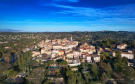 Aerial view of the picturesque town of Mougins in the Cote d'Azur, France