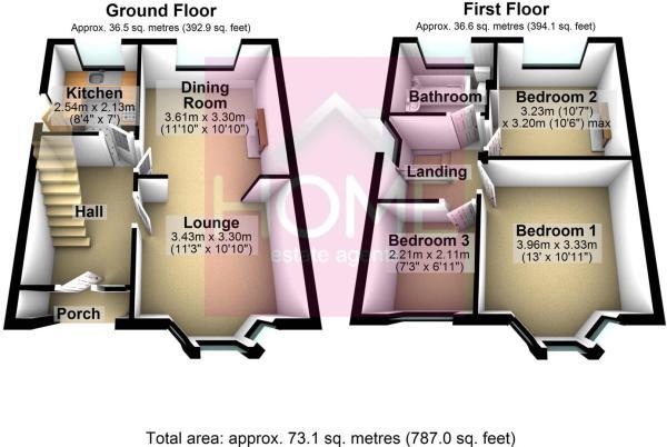 3D Floorplan 237 Derbyshire Lane West, Stretford.j