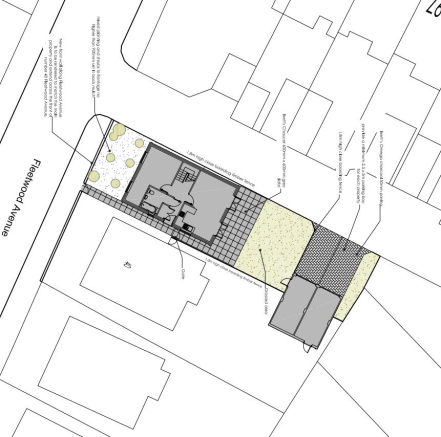 Site plan including location of garage
