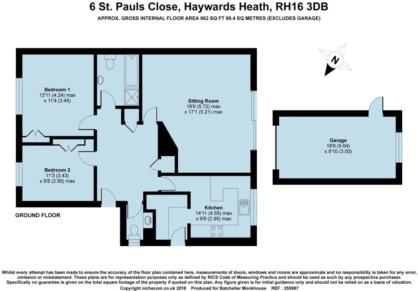 2 bedroom bungalow for sale in St. Pauls Close, Haywards Heath, RH16