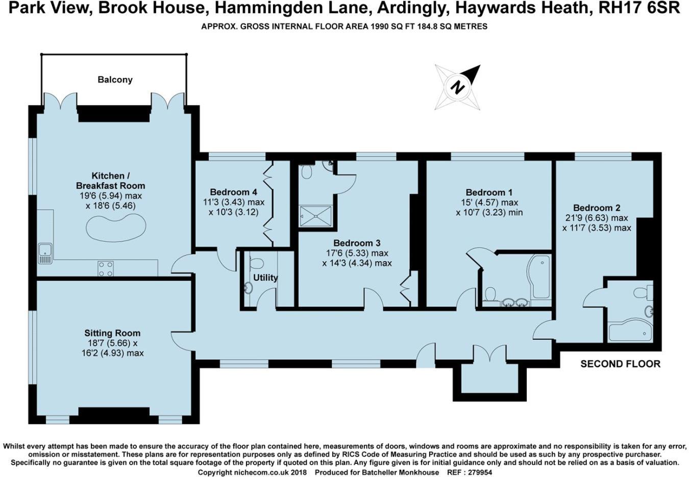 4 bedroom flat for sale in Brook House, Hammingden Lane, RH17