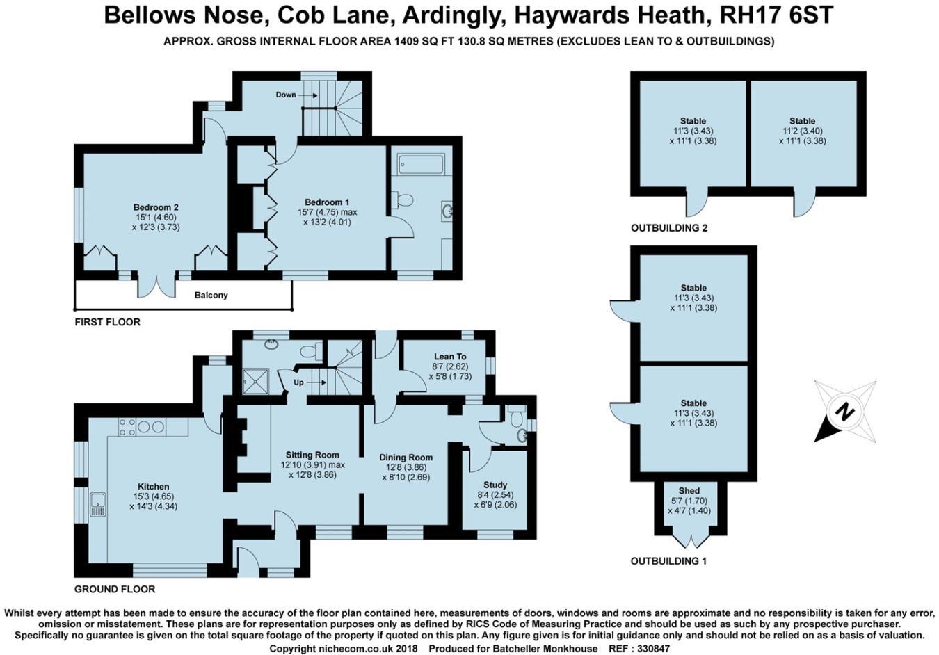 2 bedroom detached house for sale in Cob Lane, Ardingly, RH17