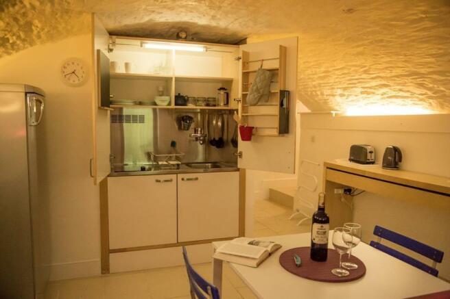 Kitchen in Lower Ground Floor suite