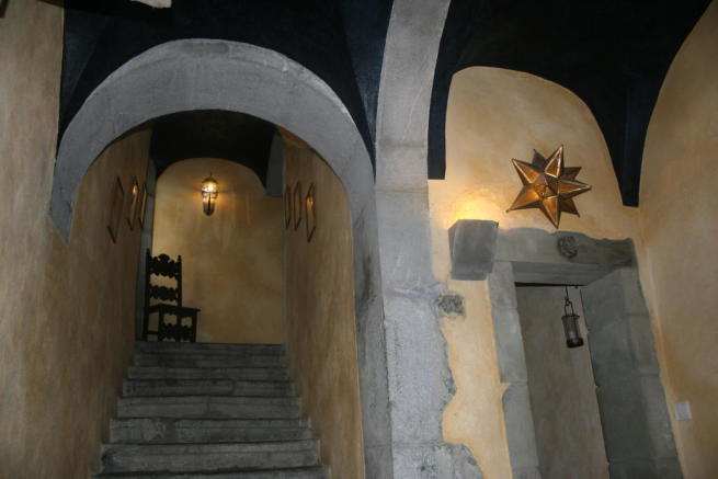 staircase and hall