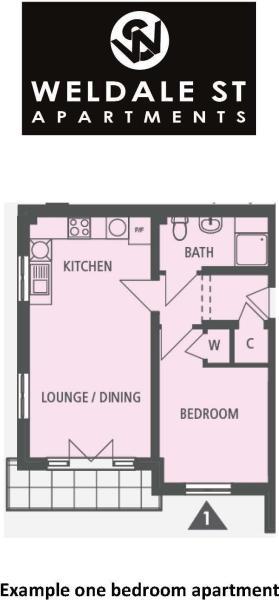 One bedroom floorpla
