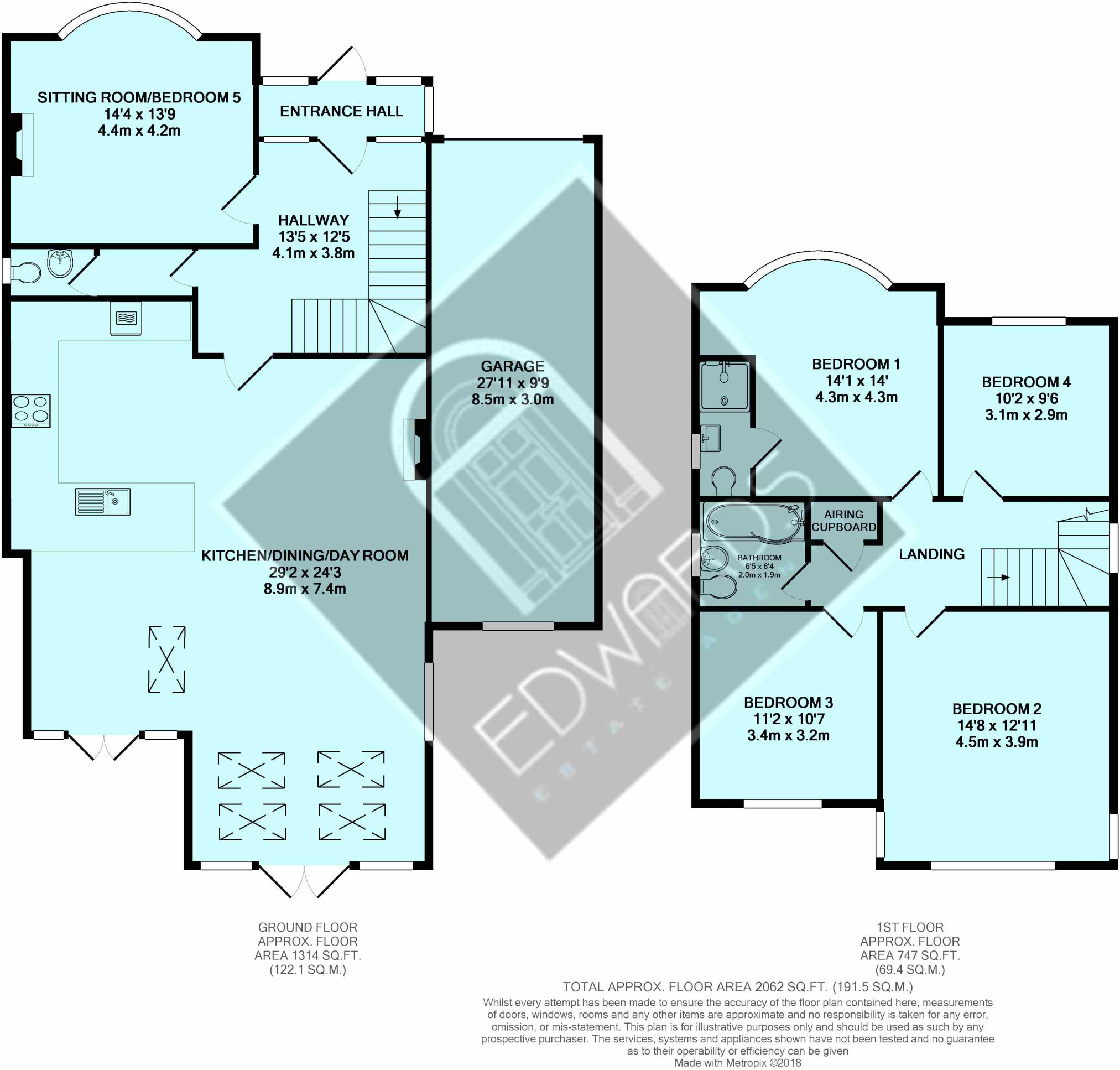4 bedroom detached house for sale in Leeson Road, Bournemouth, BH7