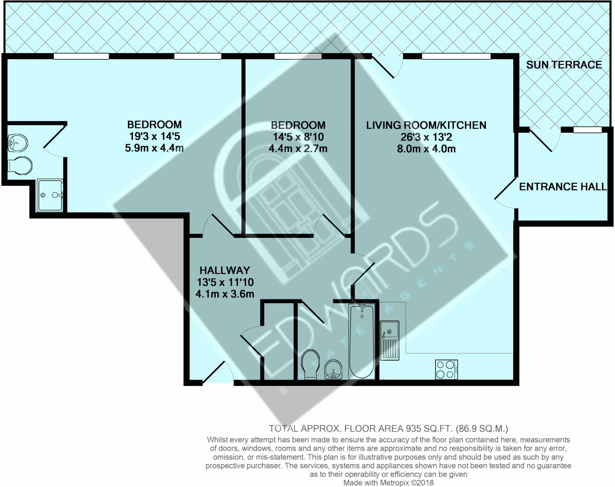 2 bedroom maisonette for sale in Upper Terrace Road, Bournemouth, BH2