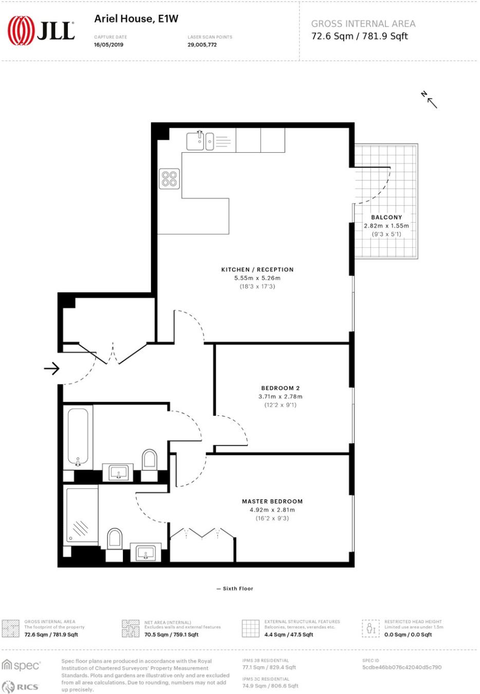2 bedroom apartment to rent in Ariel House, 144 Vaughan Way, London on christmas story house floor plan, gatsby house floor plan, barbie house floor plan, incredibles house floor plan, frodo baggins house floor plan,