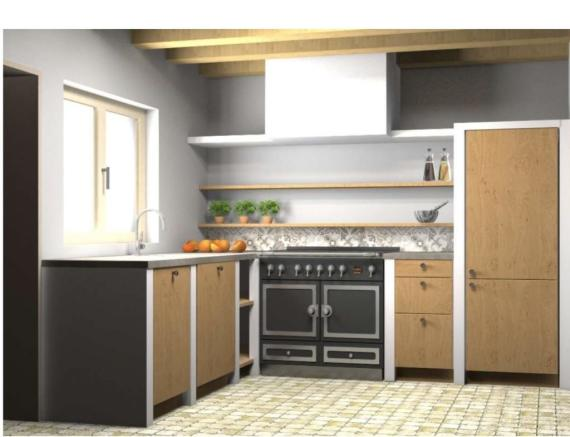 Plans of kitchen