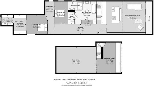 Apartment Three, 3 Glebe Street, Penarth, Vale of