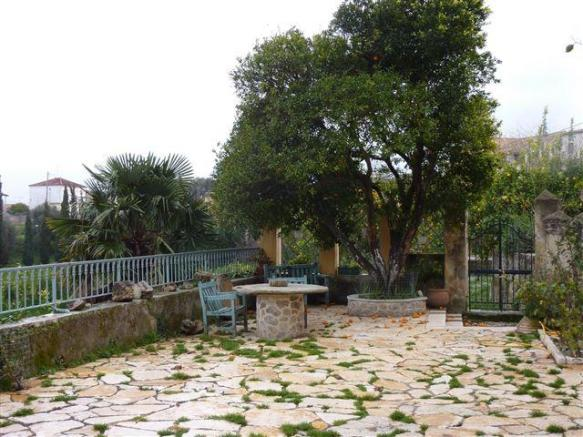Stone paved courtyard