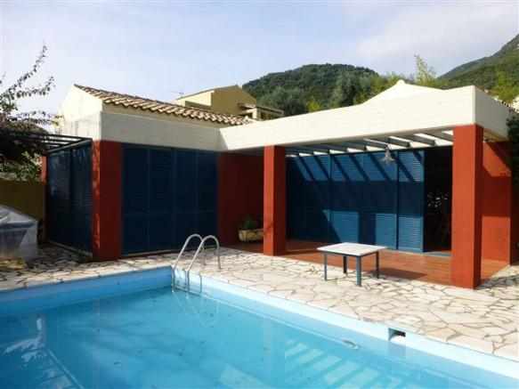 Second villa and pool
