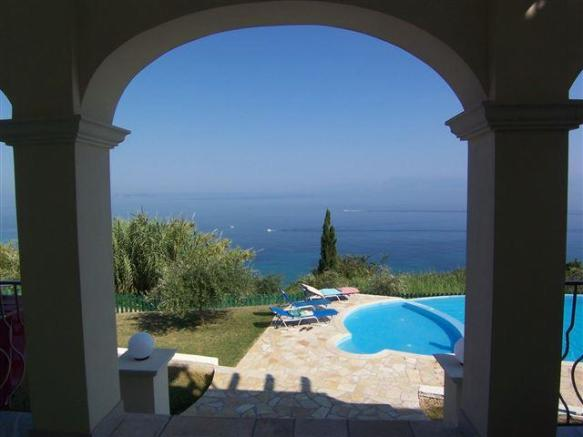 View from the house to the sea