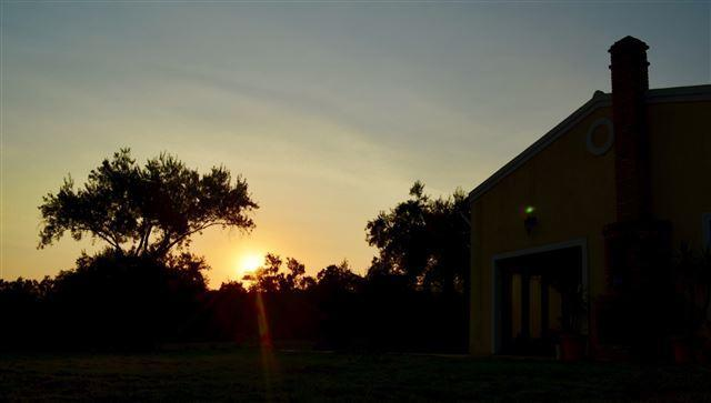 Sunset from the house