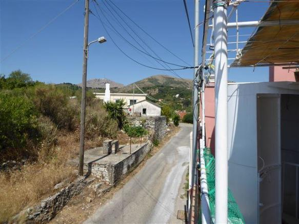 the view towards the village