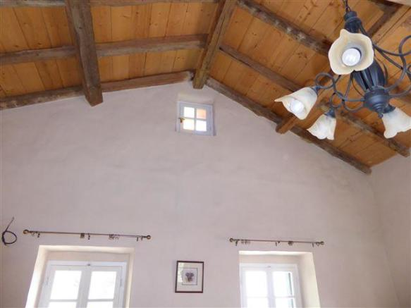 vaulted beamed ceiling