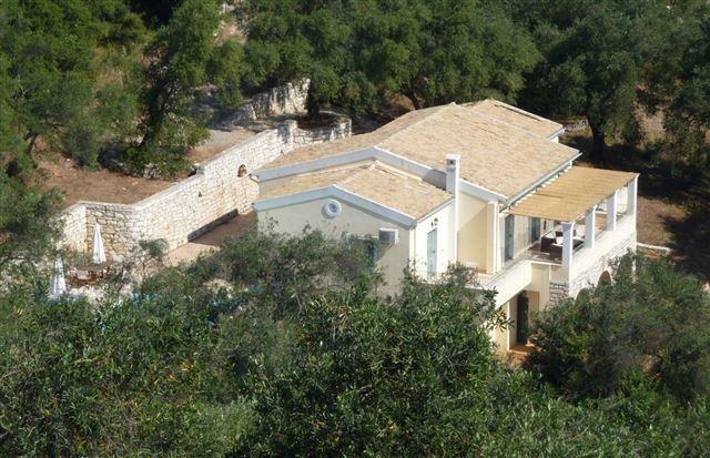 villa from the hillside
