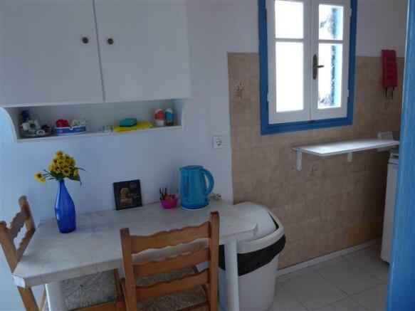 kitchenette in each studio/apartment