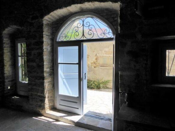 back door to the alley