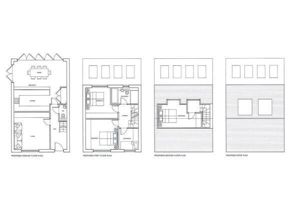 Ground, First & Second Floor Plans