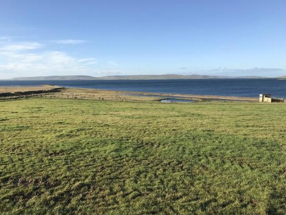 House plot site looking SW towards Mainland Orkney