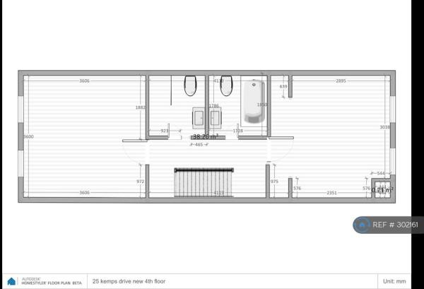 Two Bedrooms And Two Bathrooms