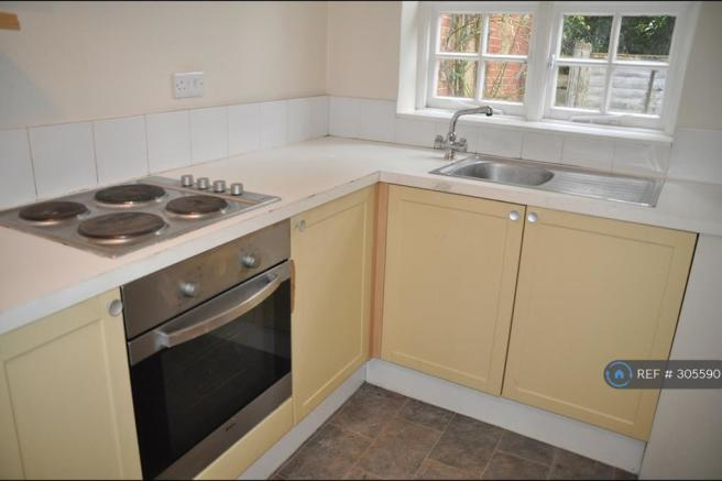 Electric Hob, Oven And Sink, Before Refurbishment