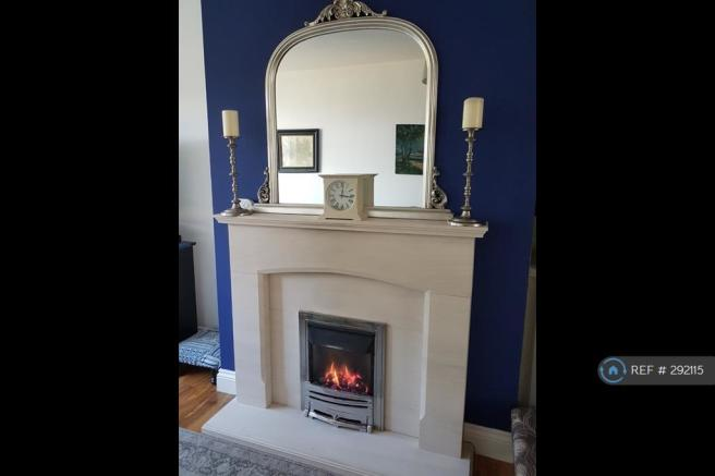 Gas Fire With Stone Fire Surround
