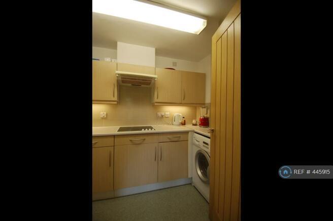 Kitchen With Appliances Inc Washer Dryer