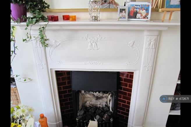 Period Fireplace With Working Gas Fireplace