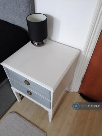 Bedroom 1 Quality Bedside Cabinet And Touch Lamp