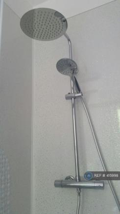 Close Up Shower Riser And Overhead