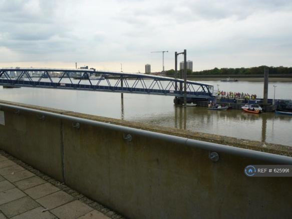 River Jetty For Boats Into London
