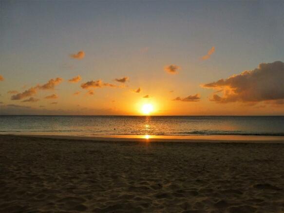 typical beach sunset