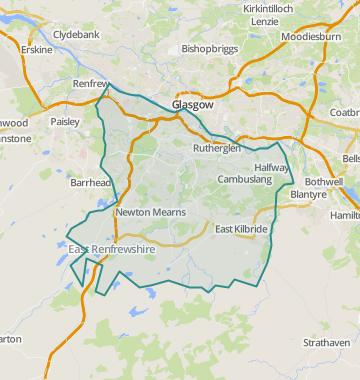glasgow west end map