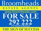 Broomheads Estate Agents, Blackpool Logo