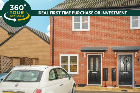 Meteor Way, Whetstone, Leicester. 2 bedroom end of terrace house for sale