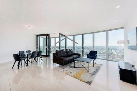 The Tower, One St George Wharf, London. 3 bedroom apartment for sale