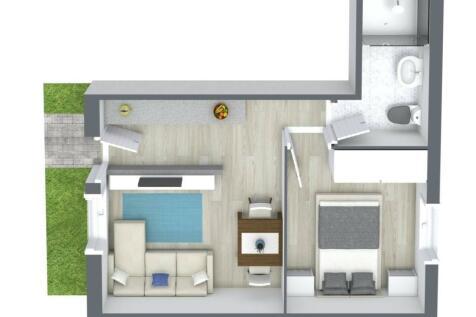 SOVEREIGN COURT, DERBY STREET, ORMSKIRK. 1 bedroom flat