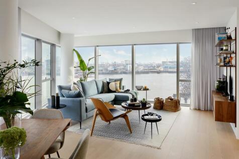 No 2, 10 Cutter Lane, Upper Riverside, Greenwich Peninsula, SE10. 3 bedroom flat