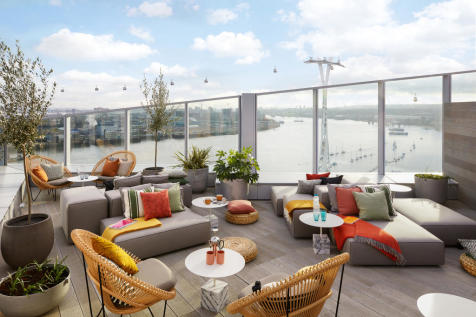 No.1, 18 Cutter Lane, Upper Riverside, Greenwich Peninsula, SE10. 3 bedroom flat for sale