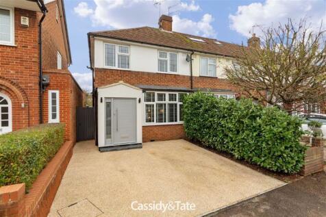 Boleyn Drive, St. Albans, Hertfordshire. 3 bedroom end of terrace house for sale
