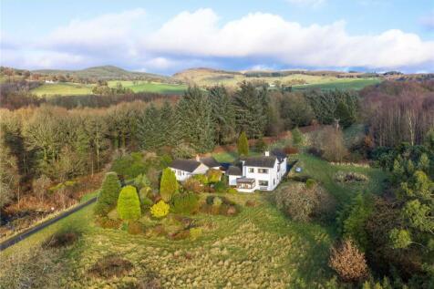 Dalavan House & Cottage, Bush Moss, Gatehouse of Fleet, Castle Douglas, South West Scotland, DG7. 3 bedroom detached house for sale