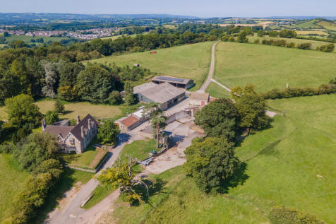 Timsbury Nr Bath Delightful hilltop farm 173 acres Pretty house Traditional barns. Land for sale