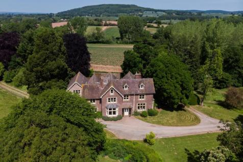 Madley, Herefordshire 10 acres. 7 bedroom detached house for sale